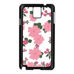 Vintage Floral Wallpaper Background In Shades Of Pink Samsung Galaxy Note 3 N9005 Case (black) by Simbadda
