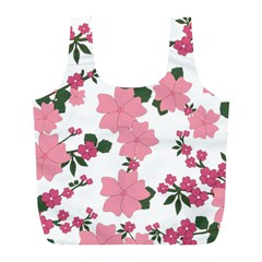 Vintage Floral Wallpaper Background In Shades Of Pink Full Print Recycle Bags (l)  by Simbadda