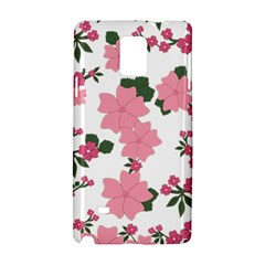 Vintage Floral Wallpaper Background In Shades Of Pink Samsung Galaxy Note 4 Hardshell Case by Simbadda