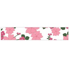 Vintage Floral Wallpaper Background In Shades Of Pink Flano Scarf (large) by Simbadda