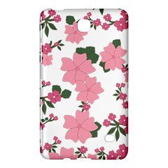 Vintage Floral Wallpaper Background In Shades Of Pink Samsung Galaxy Tab 4 (8 ) Hardshell Case  by Simbadda