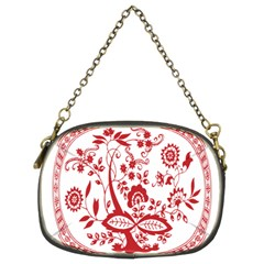 Red Vintage Floral Flowers Decorative Pattern Chain Purses (two Sides)  by Simbadda