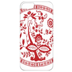 Red Vintage Floral Flowers Decorative Pattern Apple Iphone 5 Classic Hardshell Case by Simbadda