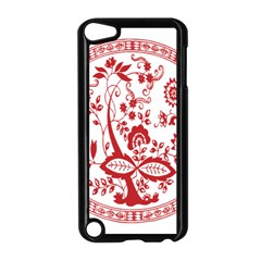 Red Vintage Floral Flowers Decorative Pattern Apple Ipod Touch 5 Case (black) by Simbadda