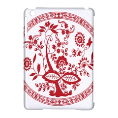 Red Vintage Floral Flowers Decorative Pattern Apple Ipad Mini Hardshell Case (compatible With Smart Cover) by Simbadda