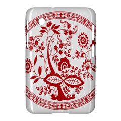 Red Vintage Floral Flowers Decorative Pattern Samsung Galaxy Tab 2 (7 ) P3100 Hardshell Case  by Simbadda