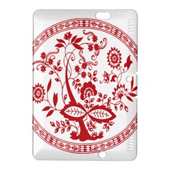 Red Vintage Floral Flowers Decorative Pattern Kindle Fire Hdx 8 9  Hardshell Case by Simbadda