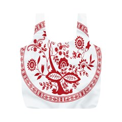 Red Vintage Floral Flowers Decorative Pattern Full Print Recycle Bags (m)  by Simbadda
