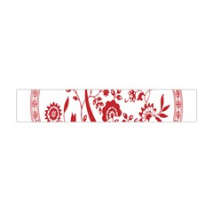 Red Vintage Floral Flowers Decorative Pattern Flano Scarf (mini) by Simbadda