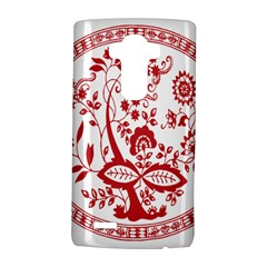 Red Vintage Floral Flowers Decorative Pattern Lg G4 Hardshell Case by Simbadda