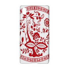 Red Vintage Floral Flowers Decorative Pattern Sony Xperia Z3+ by Simbadda