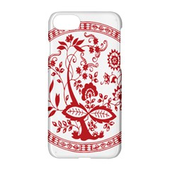 Red Vintage Floral Flowers Decorative Pattern Apple Iphone 7 Hardshell Case by Simbadda