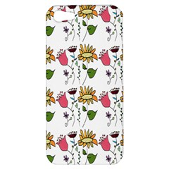 Handmade Pattern With Crazy Flowers Apple Iphone 5 Hardshell Case by Simbadda