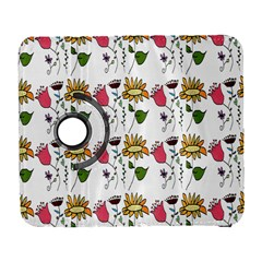 Handmade Pattern With Crazy Flowers Galaxy S3 (flip/folio) by Simbadda