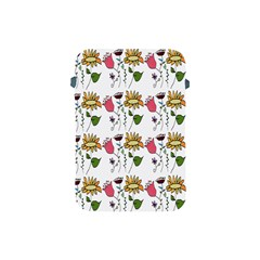 Handmade Pattern With Crazy Flowers Apple Ipad Mini Protective Soft Cases by Simbadda