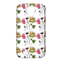 Handmade Pattern With Crazy Flowers Samsung Galaxy S4 Classic Hardshell Case (pc+silicone) by Simbadda