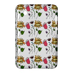 Handmade Pattern With Crazy Flowers Samsung Galaxy Tab 2 (7 ) P3100 Hardshell Case  by Simbadda