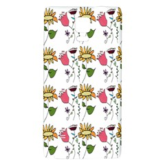 Handmade Pattern With Crazy Flowers Galaxy Note 4 Back Case by Simbadda
