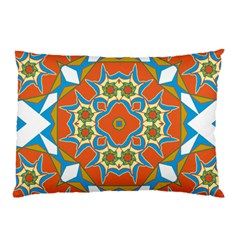 Digital Computer Graphic Geometric Kaleidoscope Pillow Case by Simbadda