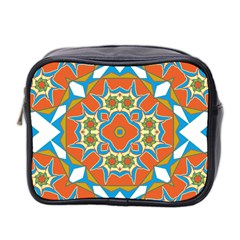 Digital Computer Graphic Geometric Kaleidoscope Mini Toiletries Bag 2 Side by Simbadda