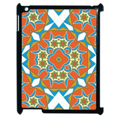 Digital Computer Graphic Geometric Kaleidoscope Apple Ipad 2 Case (black) by Simbadda