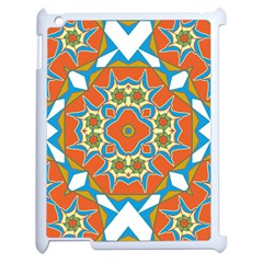 Digital Computer Graphic Geometric Kaleidoscope Apple Ipad 2 Case (white) by Simbadda