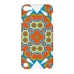 Digital Computer Graphic Geometric Kaleidoscope Apple Ipod Touch 5 Hardshell Case by Simbadda