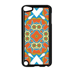 Digital Computer Graphic Geometric Kaleidoscope Apple Ipod Touch 5 Case (black) by Simbadda