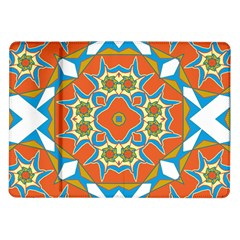 Digital Computer Graphic Geometric Kaleidoscope Samsung Galaxy Tab 10 1  P7500 Flip Case by Simbadda