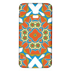 Digital Computer Graphic Geometric Kaleidoscope Samsung Galaxy S5 Back Case (white) by Simbadda