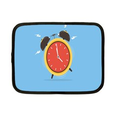 Alarm Clock Weker Time Red Blue Netbook Case (small)  by Alisyart