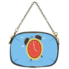 Alarm Clock Weker Time Red Blue Chain Purses (two Sides)  by Alisyart