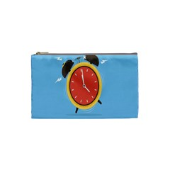 Alarm Clock Weker Time Red Blue Cosmetic Bag (small)  by Alisyart