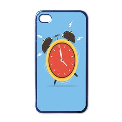 Alarm Clock Weker Time Red Blue Apple Iphone 4 Case (black) by Alisyart