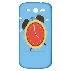 Alarm Clock Weker Time Red Blue Samsung Galaxy S3 S Iii Classic Hardshell Back Case by Alisyart