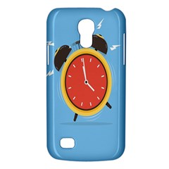 Alarm Clock Weker Time Red Blue Galaxy S4 Mini by Alisyart