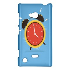 Alarm Clock Weker Time Red Blue Nokia Lumia 720 by Alisyart