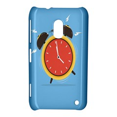 Alarm Clock Weker Time Red Blue Nokia Lumia 620 by Alisyart
