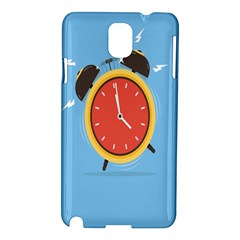 Alarm Clock Weker Time Red Blue Samsung Galaxy Note 3 N9005 Hardshell Case by Alisyart