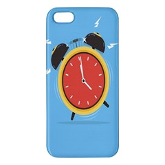 Alarm Clock Weker Time Red Blue Iphone 5s/ Se Premium Hardshell Case by Alisyart