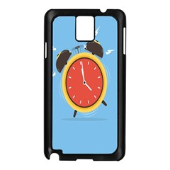 Alarm Clock Weker Time Red Blue Samsung Galaxy Note 3 N9005 Case (black) by Alisyart