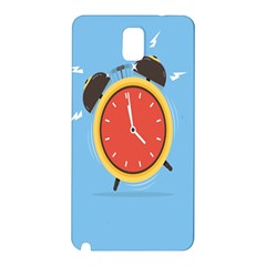 Alarm Clock Weker Time Red Blue Samsung Galaxy Note 3 N9005 Hardshell Back Case by Alisyart
