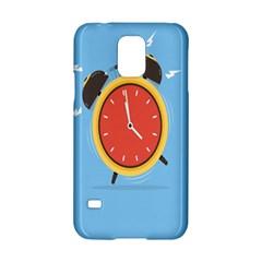 Alarm Clock Weker Time Red Blue Samsung Galaxy S5 Hardshell Case  by Alisyart