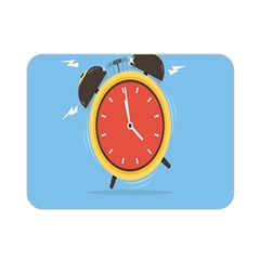 Alarm Clock Weker Time Red Blue Double Sided Flano Blanket (mini)  by Alisyart