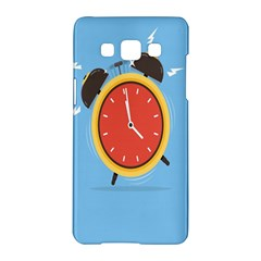 Alarm Clock Weker Time Red Blue Samsung Galaxy A5 Hardshell Case