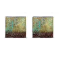 Aqua Textured Abstract Cufflinks (square) by theunrulyartist
