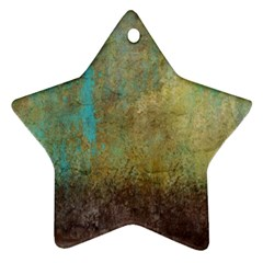 Aqua Textured Abstract Star Ornament (two Sides) by theunrulyartist