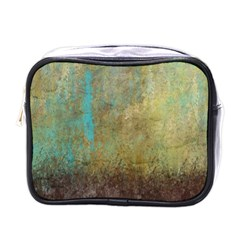 Aqua Textured Abstract Mini Toiletries Bags by theunrulyartist