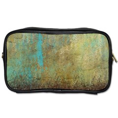 Aqua Textured Abstract Toiletries Bags 2 Side by theunrulyartist