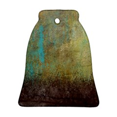 Aqua Textured Abstract Ornament (bell) by theunrulyartist
